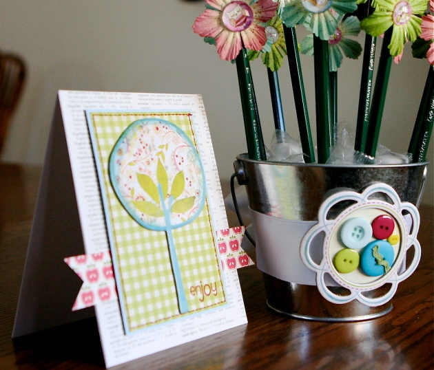 Apple Tree Card and Pencil Bouquet