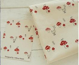 Canvas Mushroom Fabric