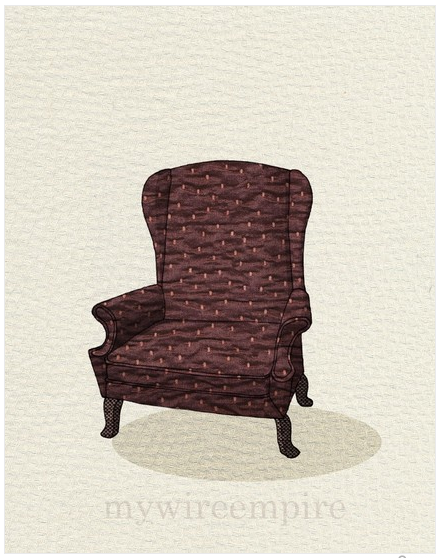 Wingback Print by Mywireempire