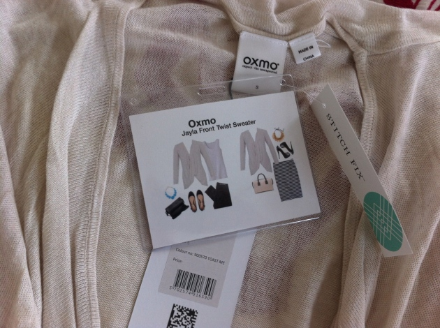 Oxmo Jayla Front Twist Sweater (S)