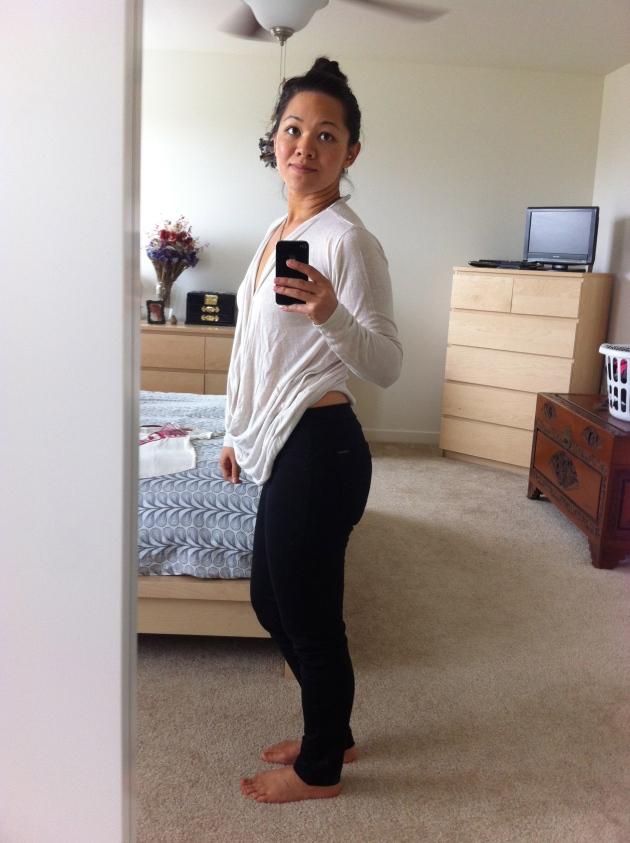Rizzo Skinny Ponte Pants (M): Side