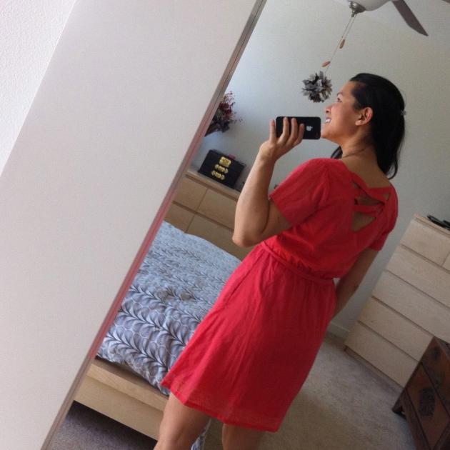 Tulle Kayla Back Detail Belted Dress